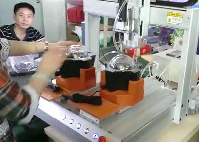 双平台吹气式自动锁螺丝机
