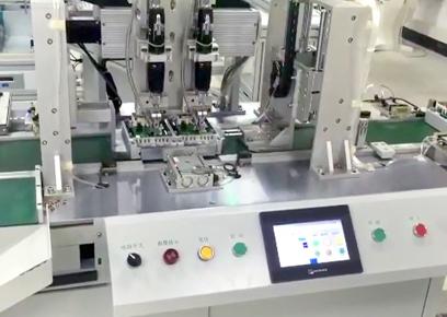双平台双电批双供料吸附式自动锁螺丝机
