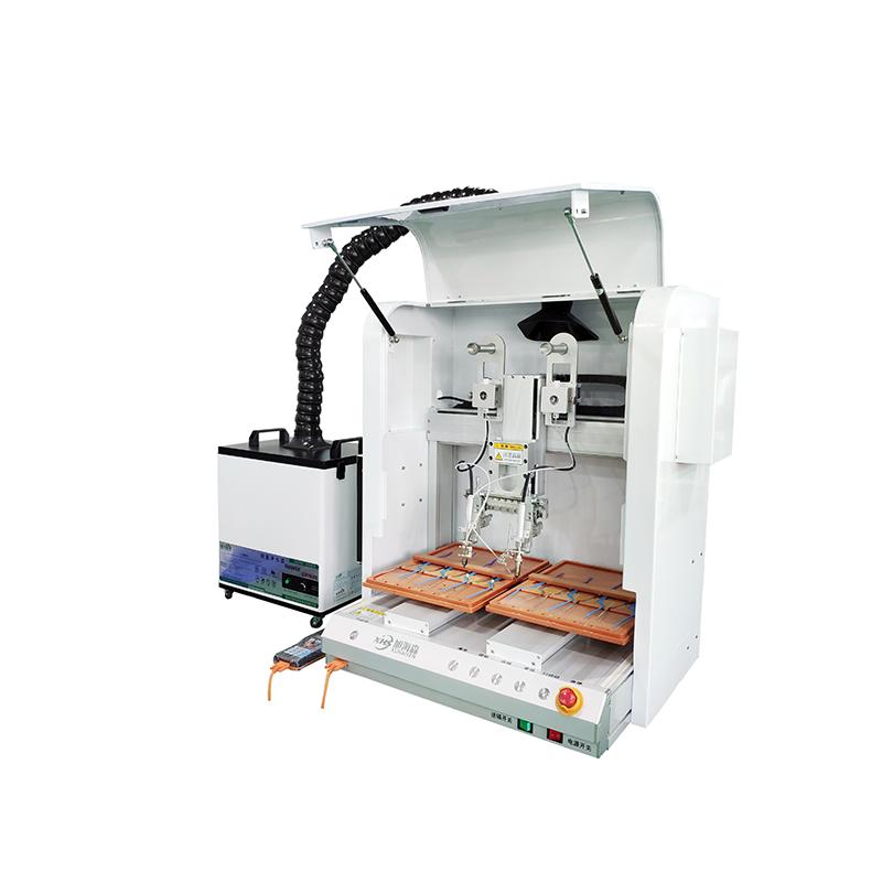全自动焊锡机环保双焊头加罩子平台设备