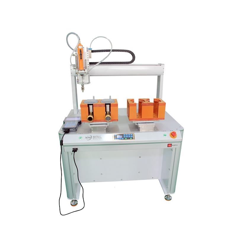 立柜式全自动螺丝机灯饰吹气式双平台锁螺丝机深圳厂家