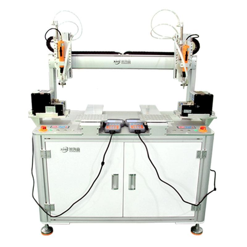 全自动锁螺丝机双电批双供料吸附式拧打螺丝机