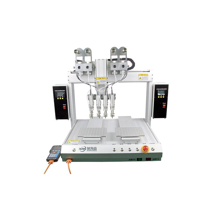 全自动多焊头焊锡机双平台灯饰点锡机厂家